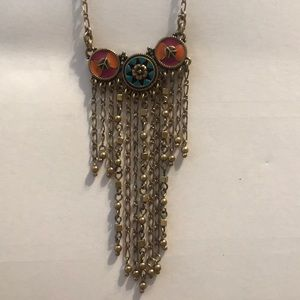 Guess Enamel Fringed Reversible Necklace